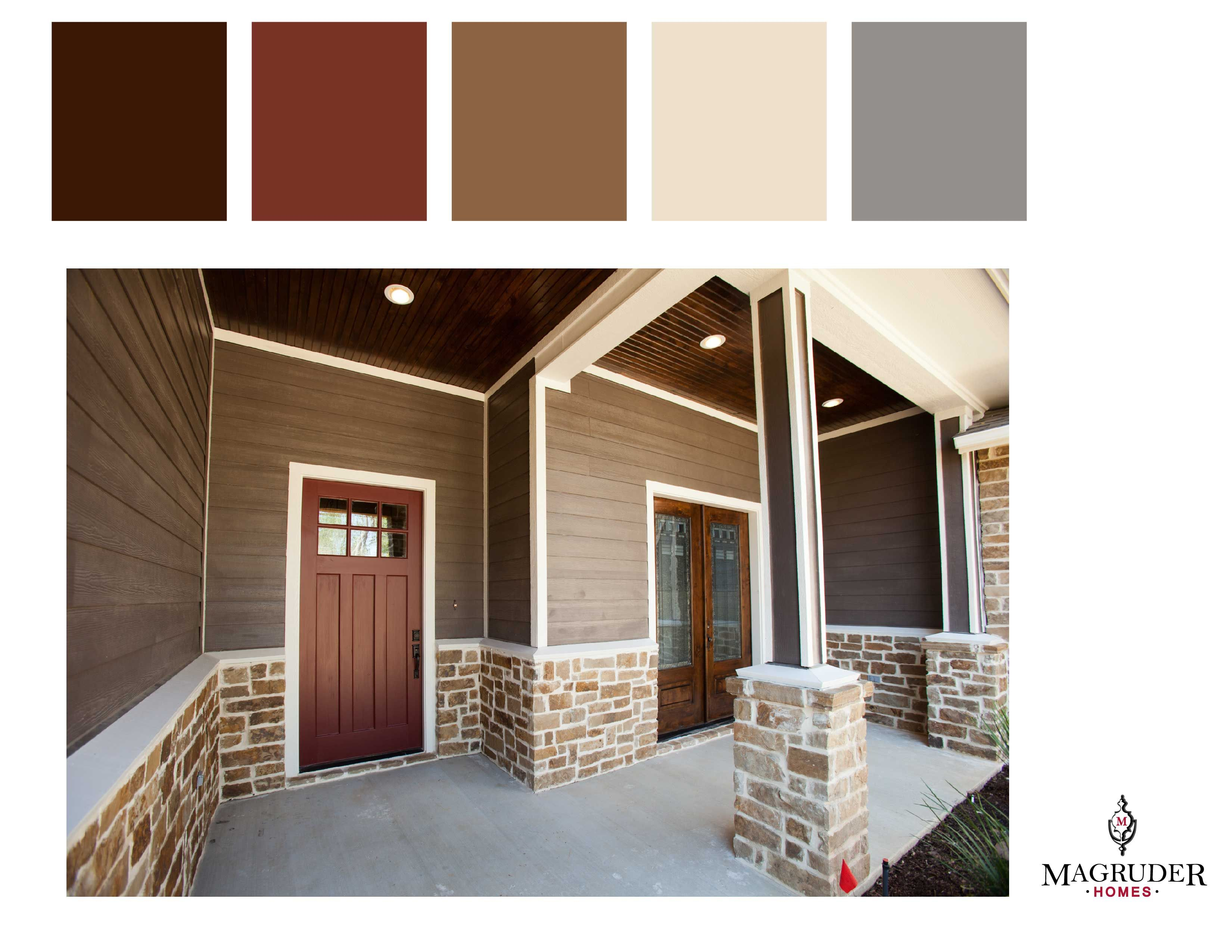 Color inspiration via for the home - Brown exterior house color combinations ...