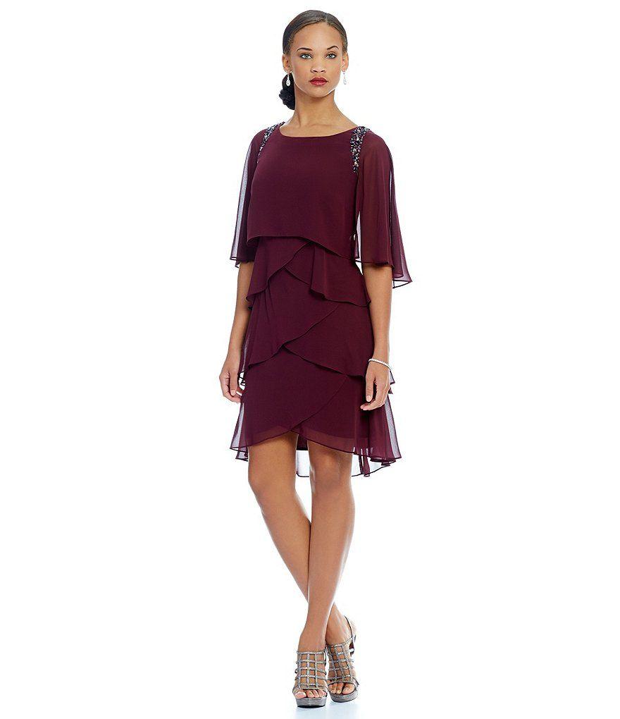 Sl sl fashion dresses - Fig S L Fashions Bead Trim Tiered Dress