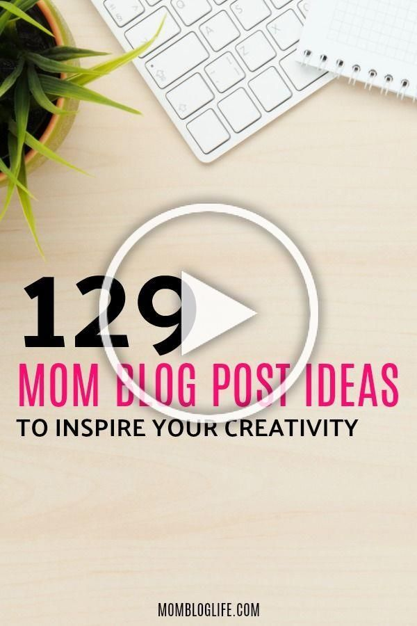 Continuously creating content for your mom blog can be hard. You want to keep your content fresh but sometimes you need blog post inspiration to come up with that fantastic next post you're going to write. In this post, I have complied a lot of 129 blog post ideas for your mom blog to help you get creative and continue writing awesome content! #blog #blogging #bossbabe #bloggers #momboss #momblogger