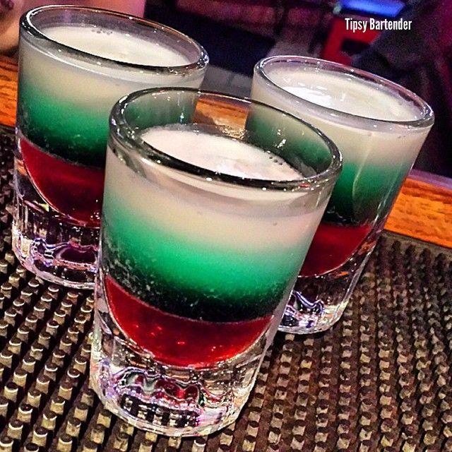 THE BLITZEN SHOT *Red Layer* Grenadine *Green Layer* Creme