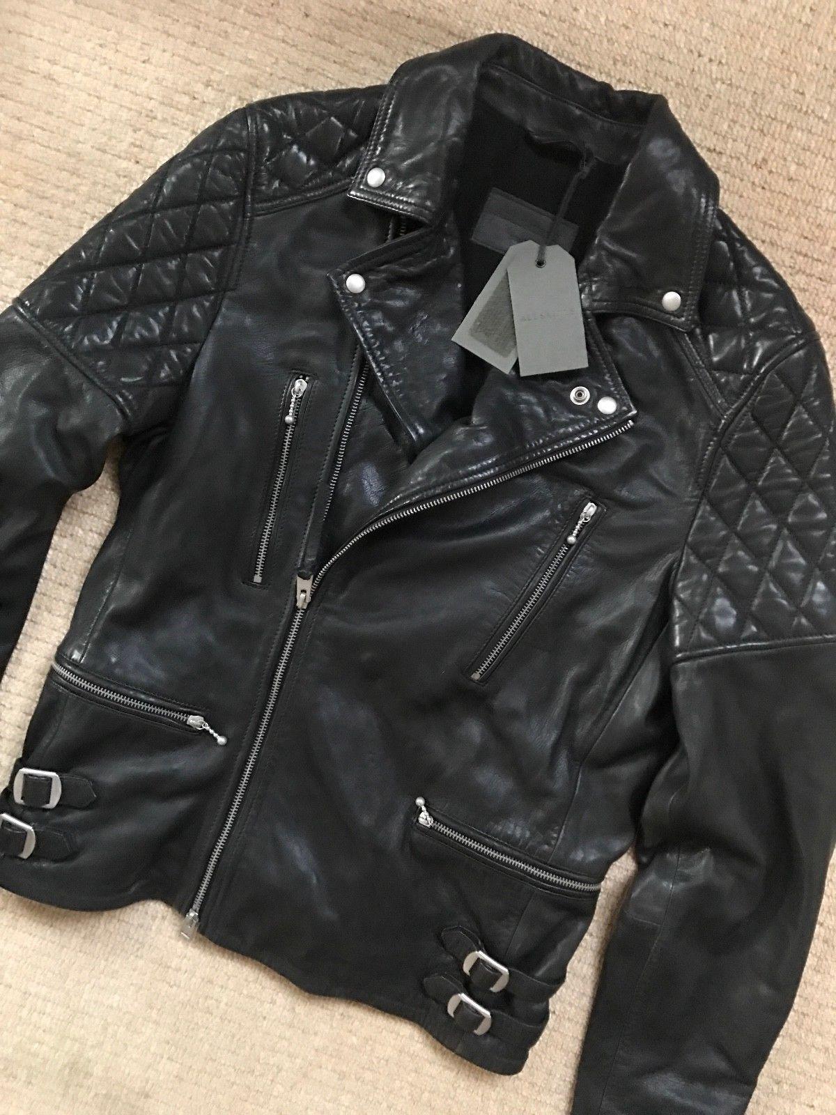 All Saints Men S Black Yuku Leather Biker Jacket Coat Xs S New Tags X4 Jackets Biker Jacket Coats Jackets [ 1600 x 1200 Pixel ]