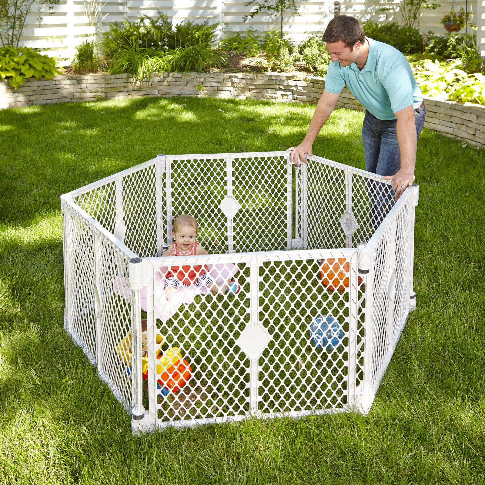 New north states superyard xt baby gate play yard pen crib playpen