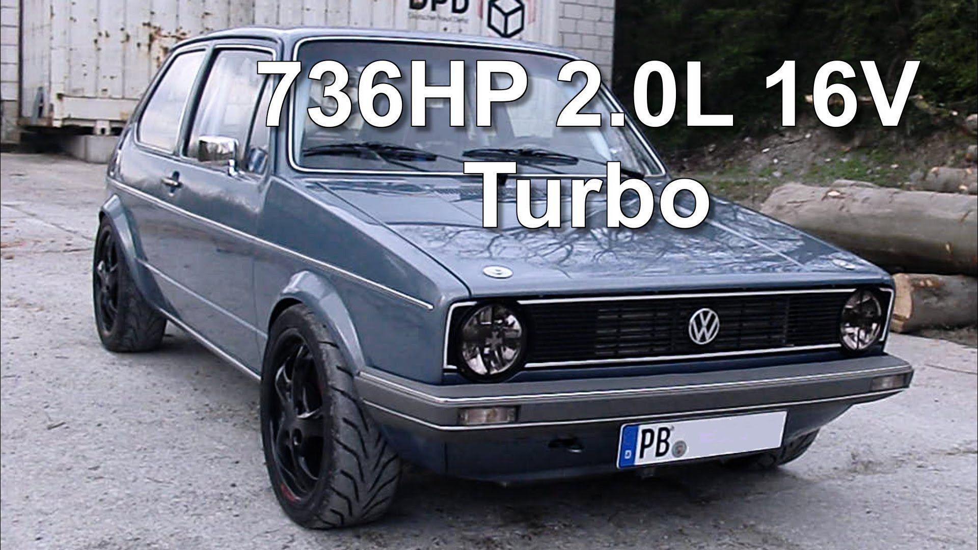 vw golf mk1 736hp 2 0l 16v turbo street race via youtube. Black Bedroom Furniture Sets. Home Design Ideas