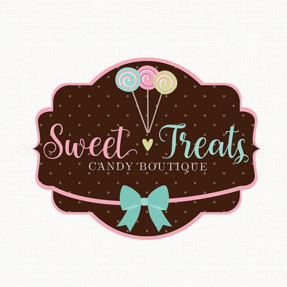 candy shop logo design sweets boutique logo bespoke logo