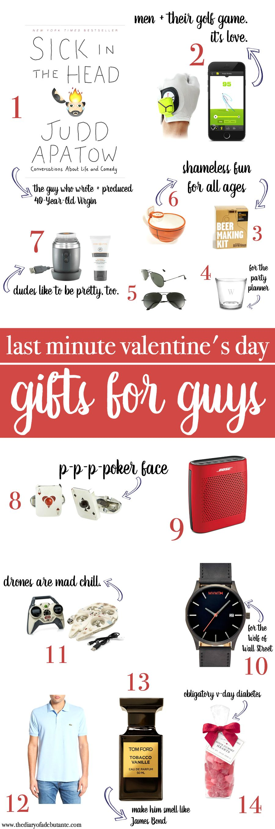 Last minute gift ideas for guys valentines for boys