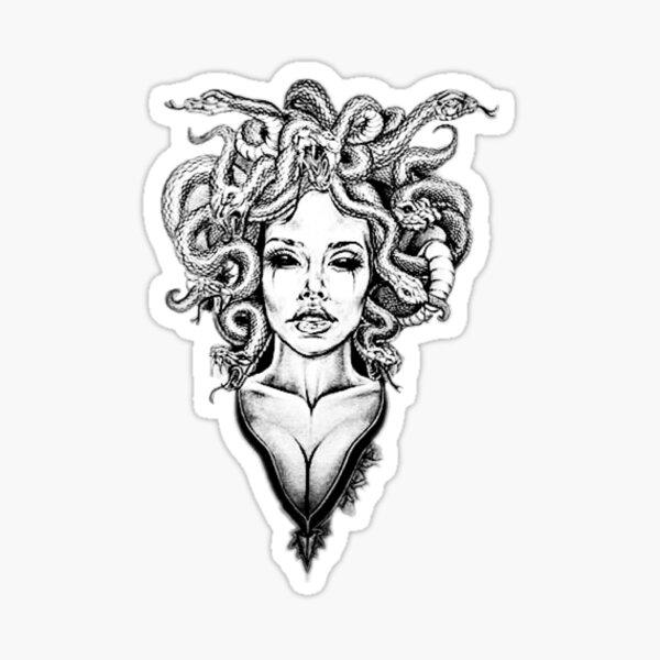 Pegatinas Del Tema Medusa Serpiente Mujer De La Mitologa Griega Con Millones De Diseos Originales Littl Medusa Tattoo Medusa Tattoo Design Mythology Tattoos