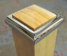 Ays Solo Chrome Oak Stair Newel Post Cap To Fit 90mm Full Or