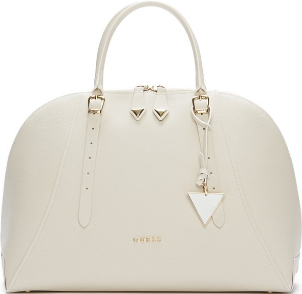 Guess White Lady Luxe Leather Dome Satchel | Leather, Lady and ...