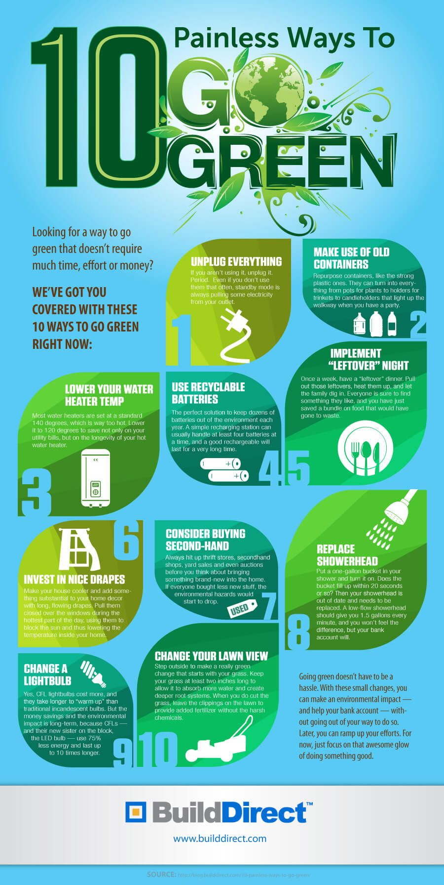 10 Painless Ways To Go Green An Infographic BuildDirect