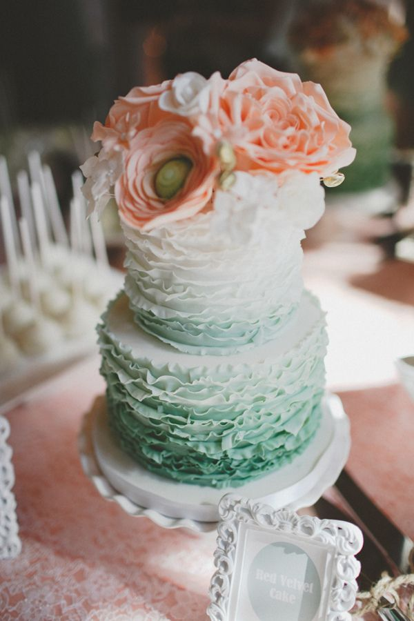 wedding cake peach and mint green 20 gorgeous wedding cakes that wow wedding cakes 23392