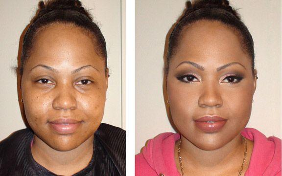 before and after makeup black women | Makeup Before And After Black Women Makeover on black women,