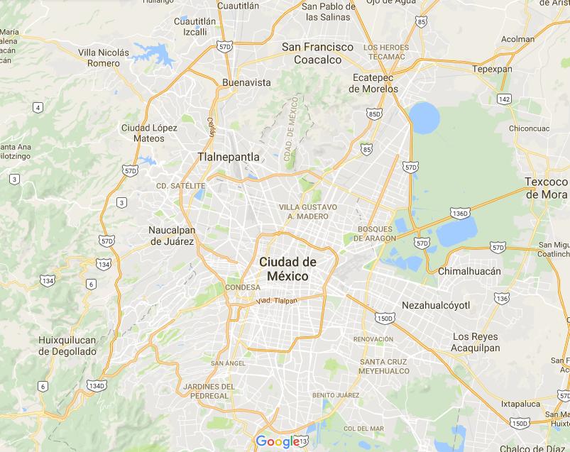 actual mapa de la ciudad de mxico en google maps