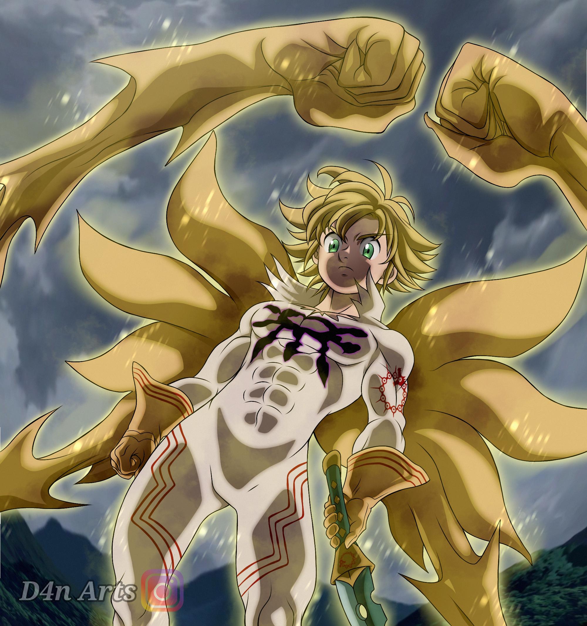 Meliodas Demon King Nanatsu No Taizai By D4nartss On Deviantart Demon King Seven Deadly Sins Anime Anime