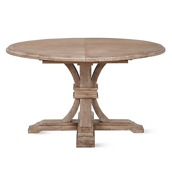 Archer Wash Oak Extending Pedestal Dining Table Products