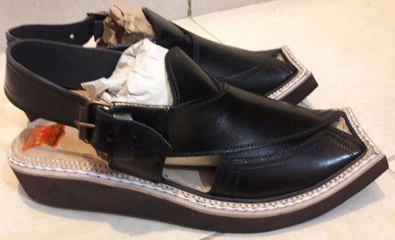 6b3de453b90b KAPTAN LEATHER CHAPPAL Hand Made AFGHAN Peshawari Eid Sandal Double Sole UK  size 9