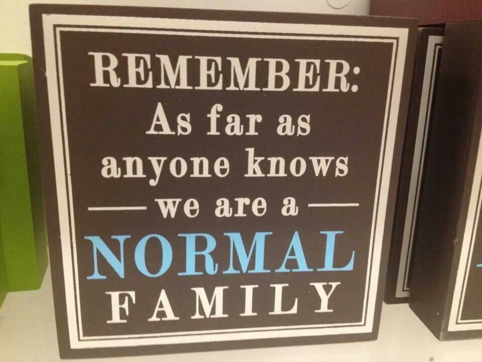 Haha, normal is so subjective! Thanks to my sis for ...