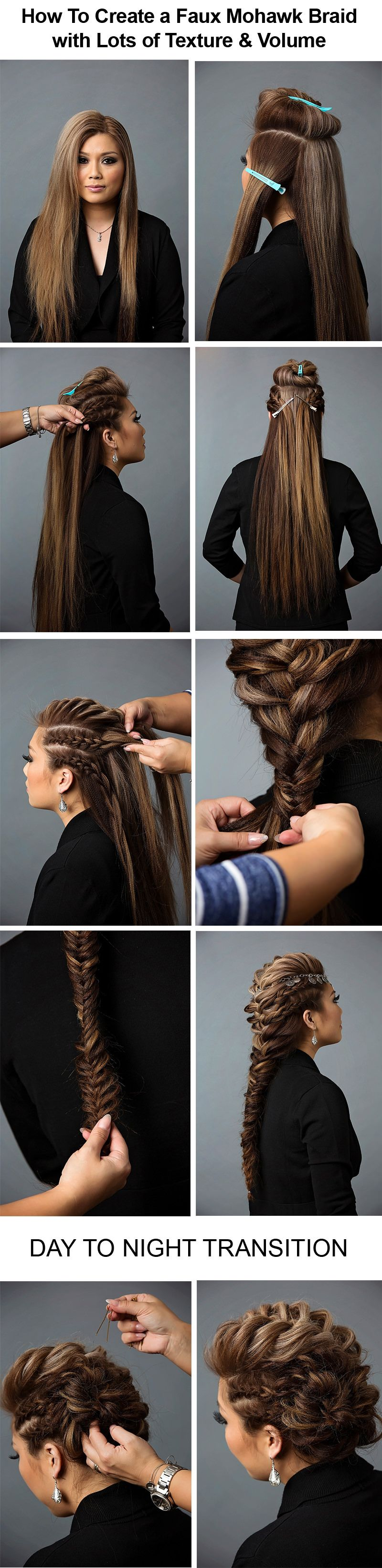 Curly braided top knot hairstyle tutorial long hair graphics