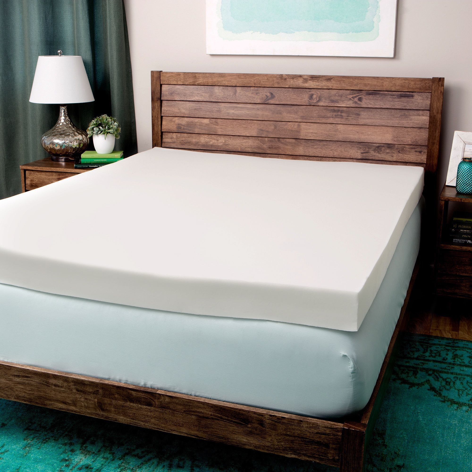 Comfort Dreams 4 inch Memory Foam Mattress Toppers Bed Topper Memoryfoam Pad