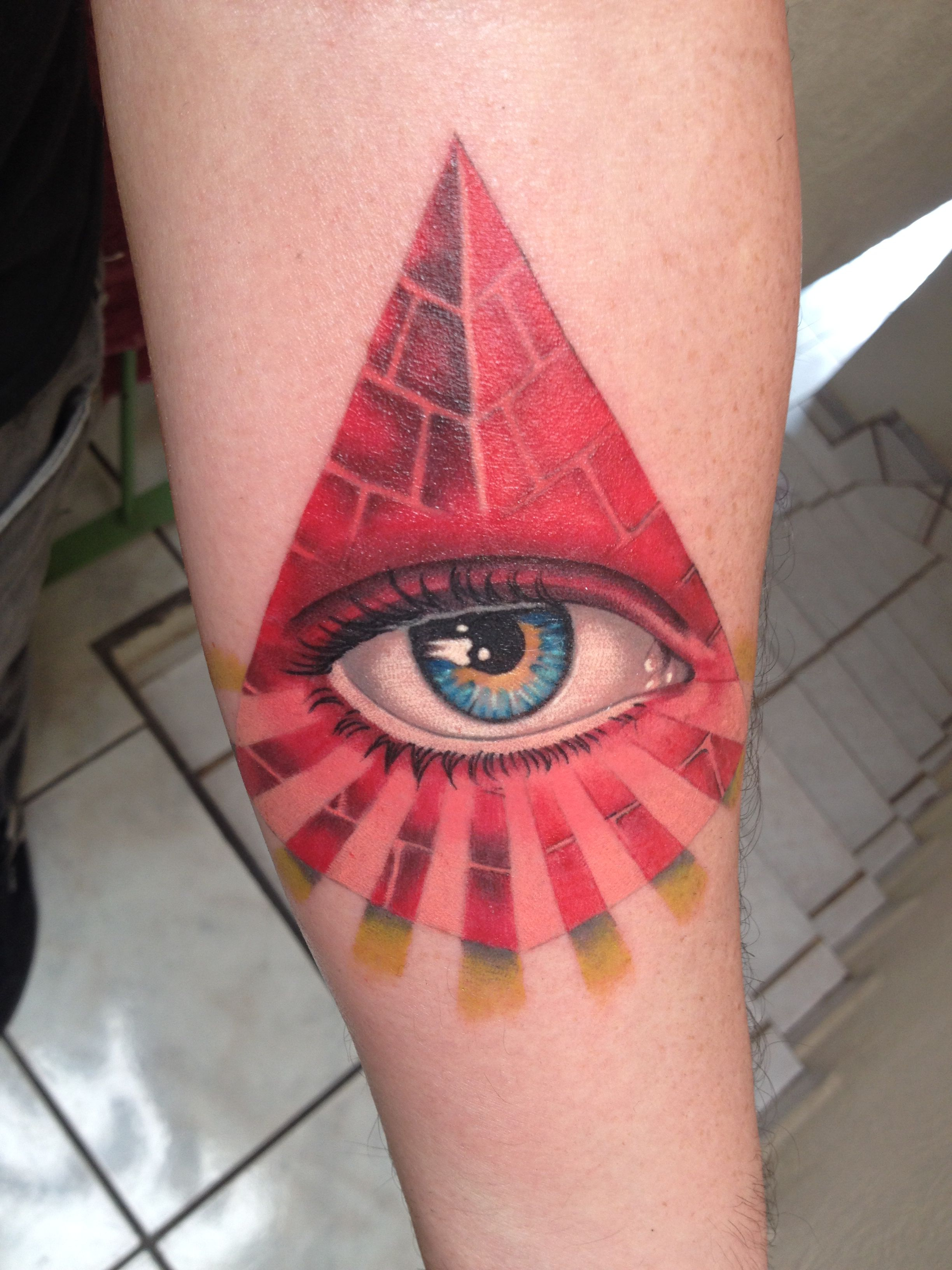 Eye With Triangle Tattoo: Third Eye Triangle Tattoo