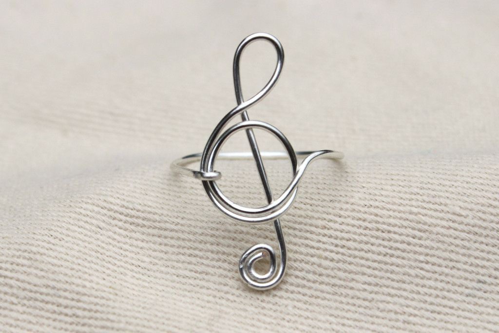 Treble Clef Ring | Treble clef, Clef and Tarnished silver