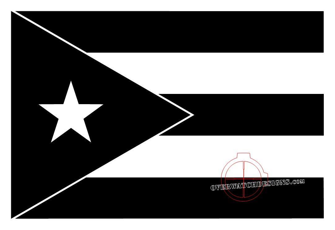 b98f274937e2e puerto rican flag black and white - Google Search | grimkidd ...