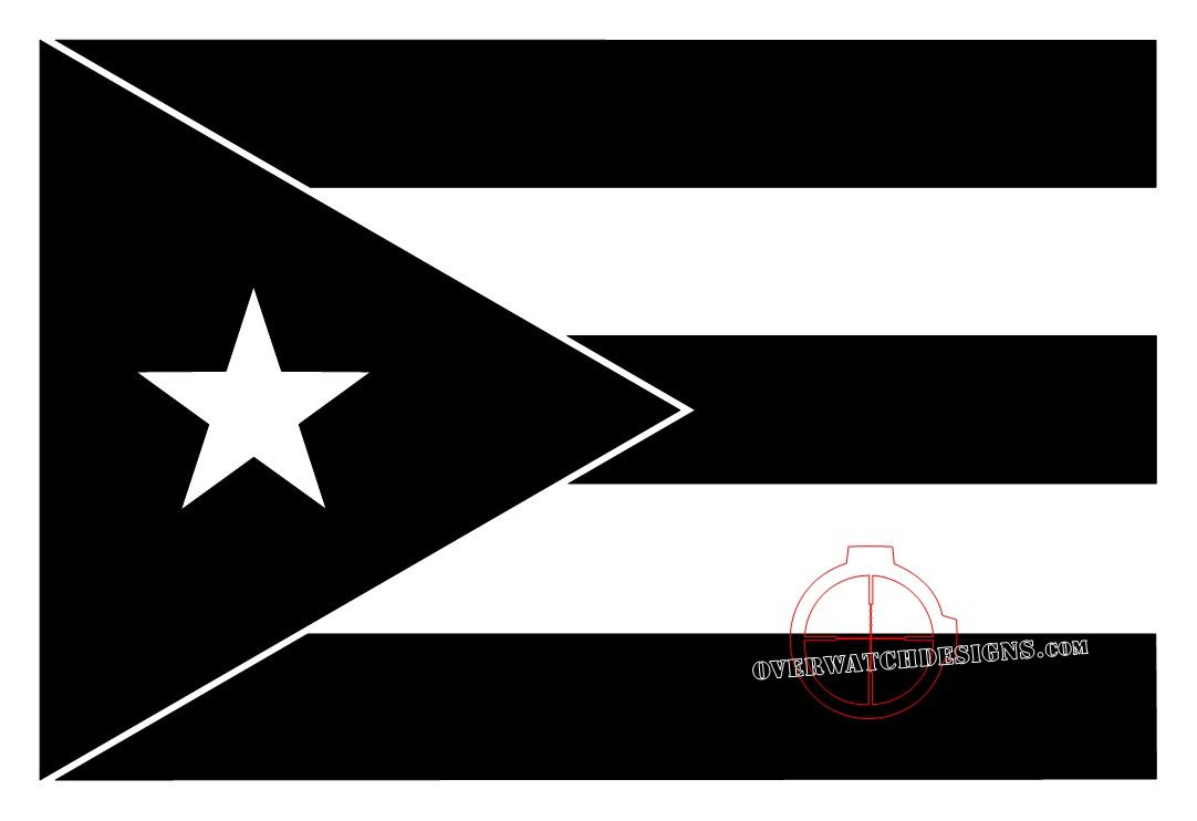 Puerto Rican Flag Black And White Google Search Black And