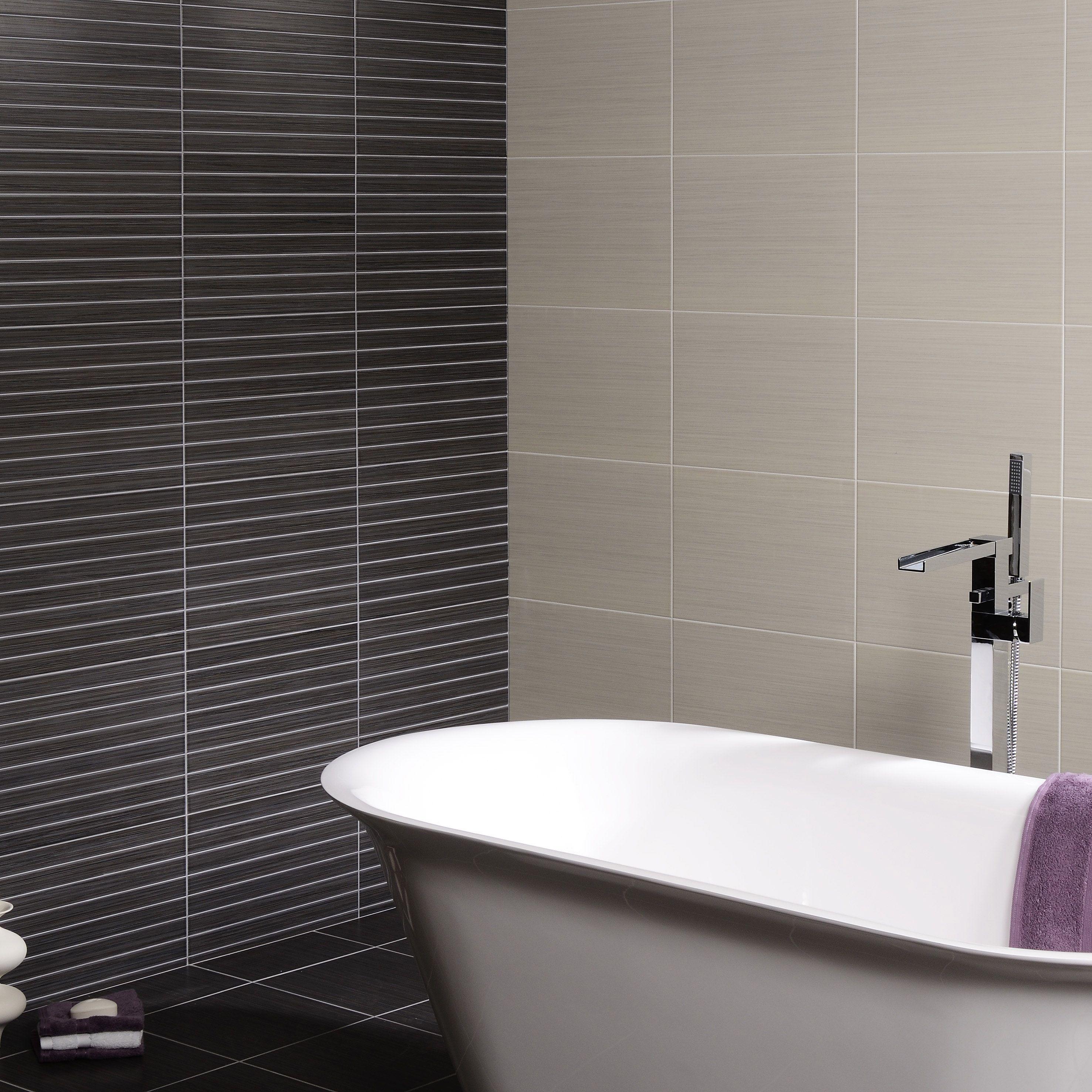 Kiwu Gris Linea Feature Tiles 36 85 Betterbathrooms Com