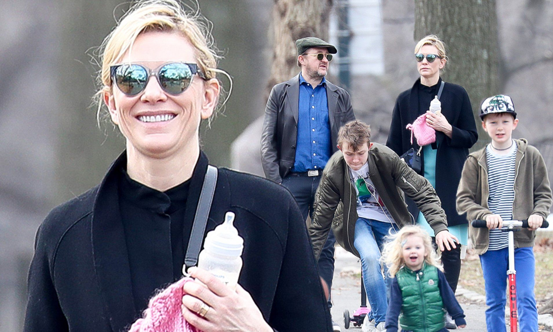 Cate Blanchett enjoys a day out with family in New York