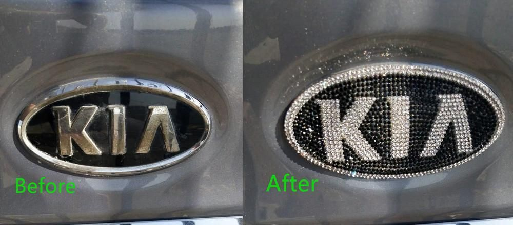 KIA Bling Emblem Decal for Front/Rear Grille Custommade