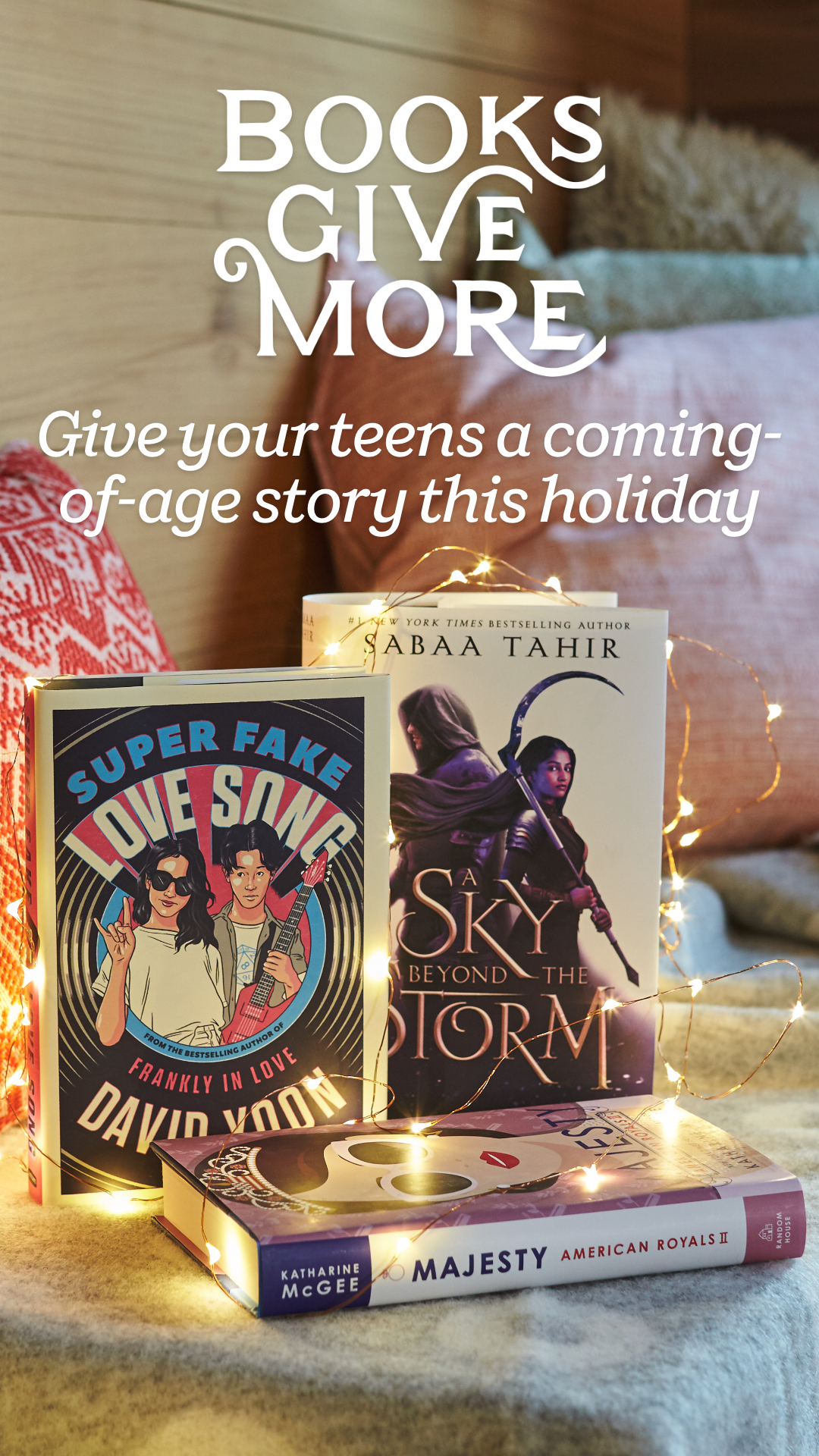 Give the teens on your holiday list a coming-of-age story they'll never forget. Readers will treasure these young adult novels by their favorite YA authors including Kim Johnson, Katharine McGee, Jennifer Niven, Nic Stone, and David Yoon.