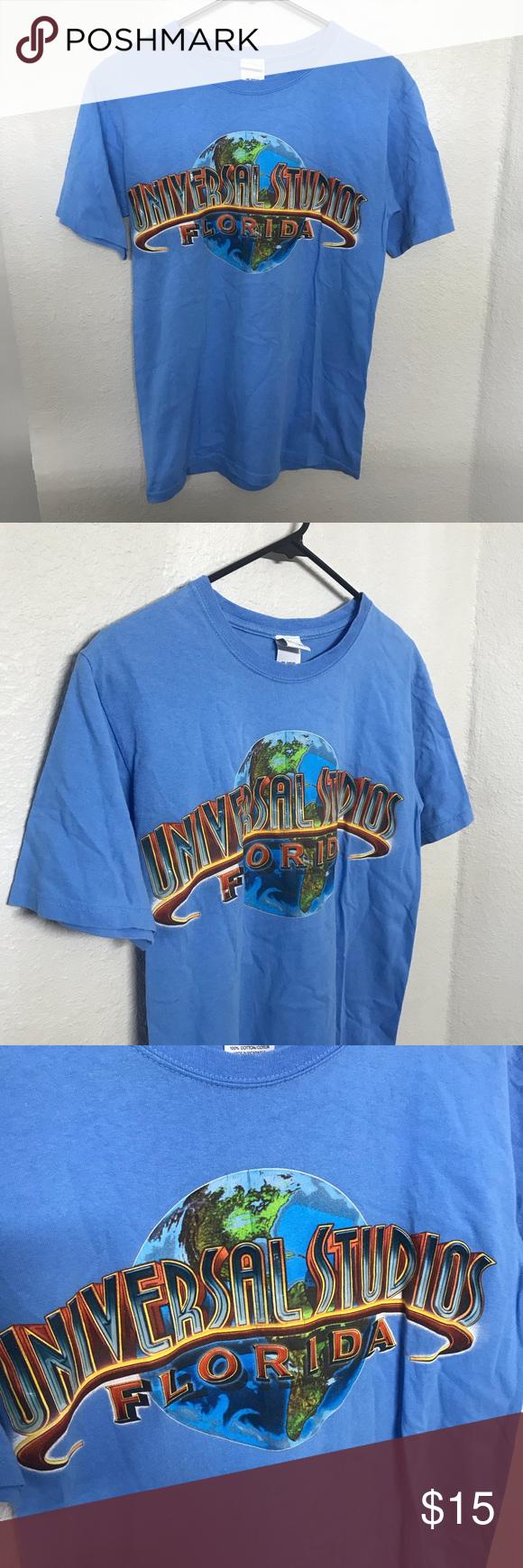 Universal Studios Florida Blue T Shirt Blue Tshirt Shirts T Shirt