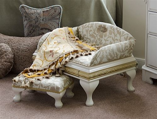 Luxury Belgravia Pet Bed And Matching Stool   Beds, Blankets U0026 Furniture    Furniture Style Beds Posh Puppy Boutique