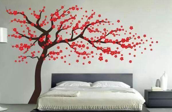 Arbol Del Amor Wall Vinyl Decor Tree Wall Decal Wall Decals For Bedroom