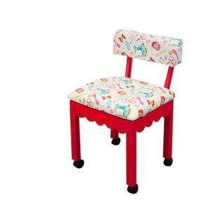 Strange Arrow Sewing Cabinets Red Wood White Patterned Fabric Sewing Theyellowbook Wood Chair Design Ideas Theyellowbookinfo