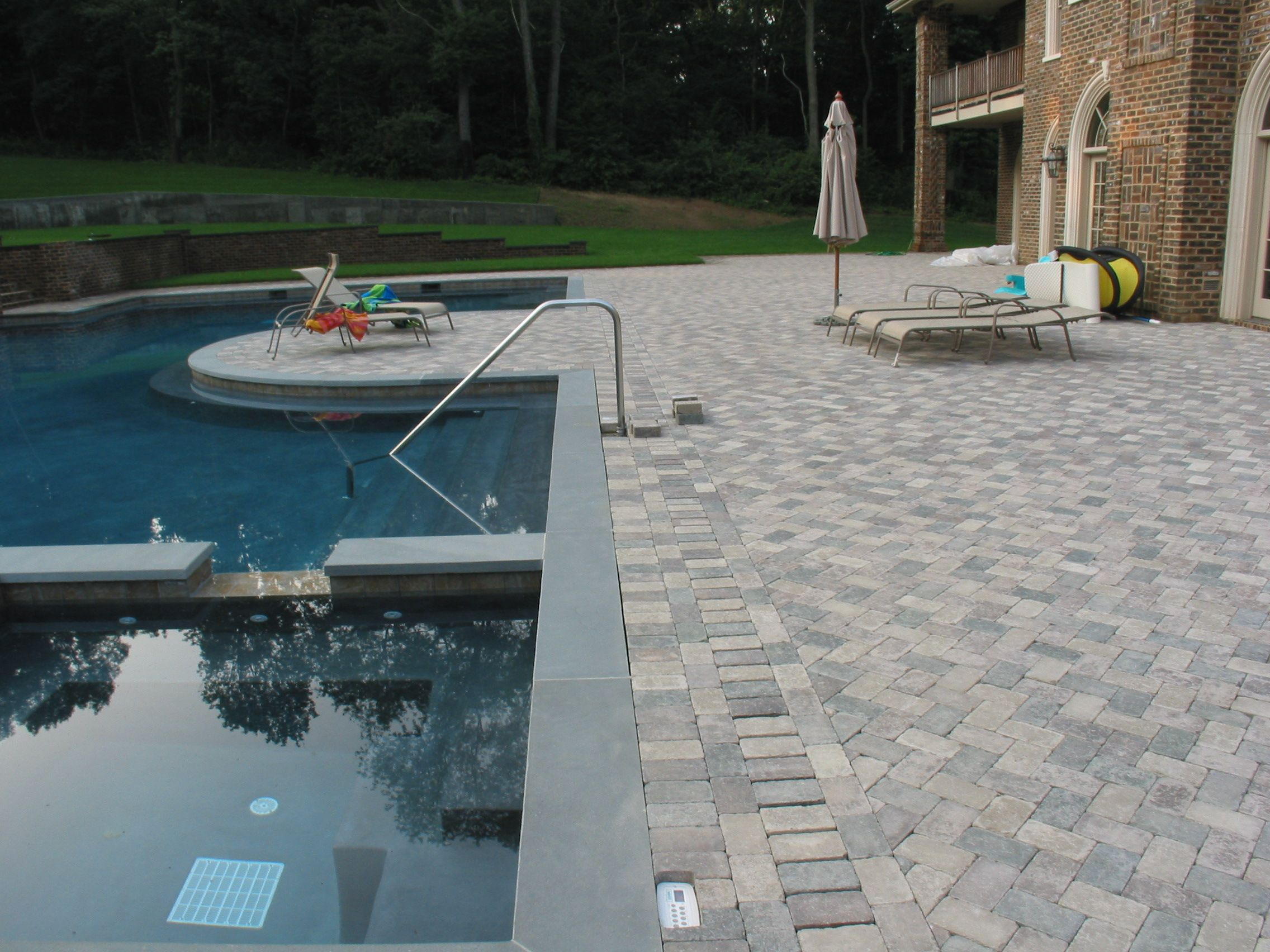 Brick Pavers with Hidden Trench Drain Installed by TinoGC | Our ...