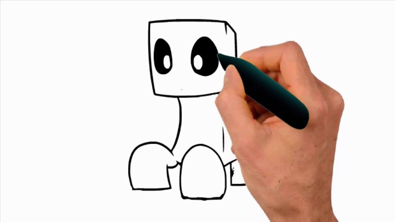 How To Draw 3D Floating CREEPER (MINECRAFT)  Draw A Minecraft Skeleton  .
