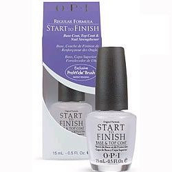 OPI's Start to Finish is base coat, strengthener, and top coat all in one.