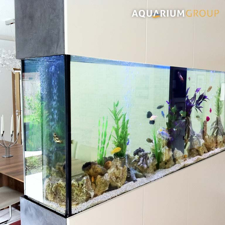 Freestanding room divider fish tank kitchen dining room for Fish tank divider