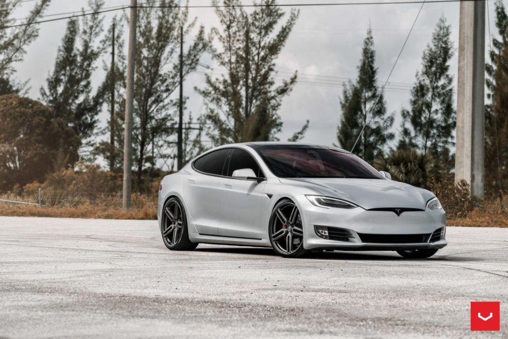 Tesla Model S Hybrid Forged Series Hf 1 Vossen Wheels Tesla