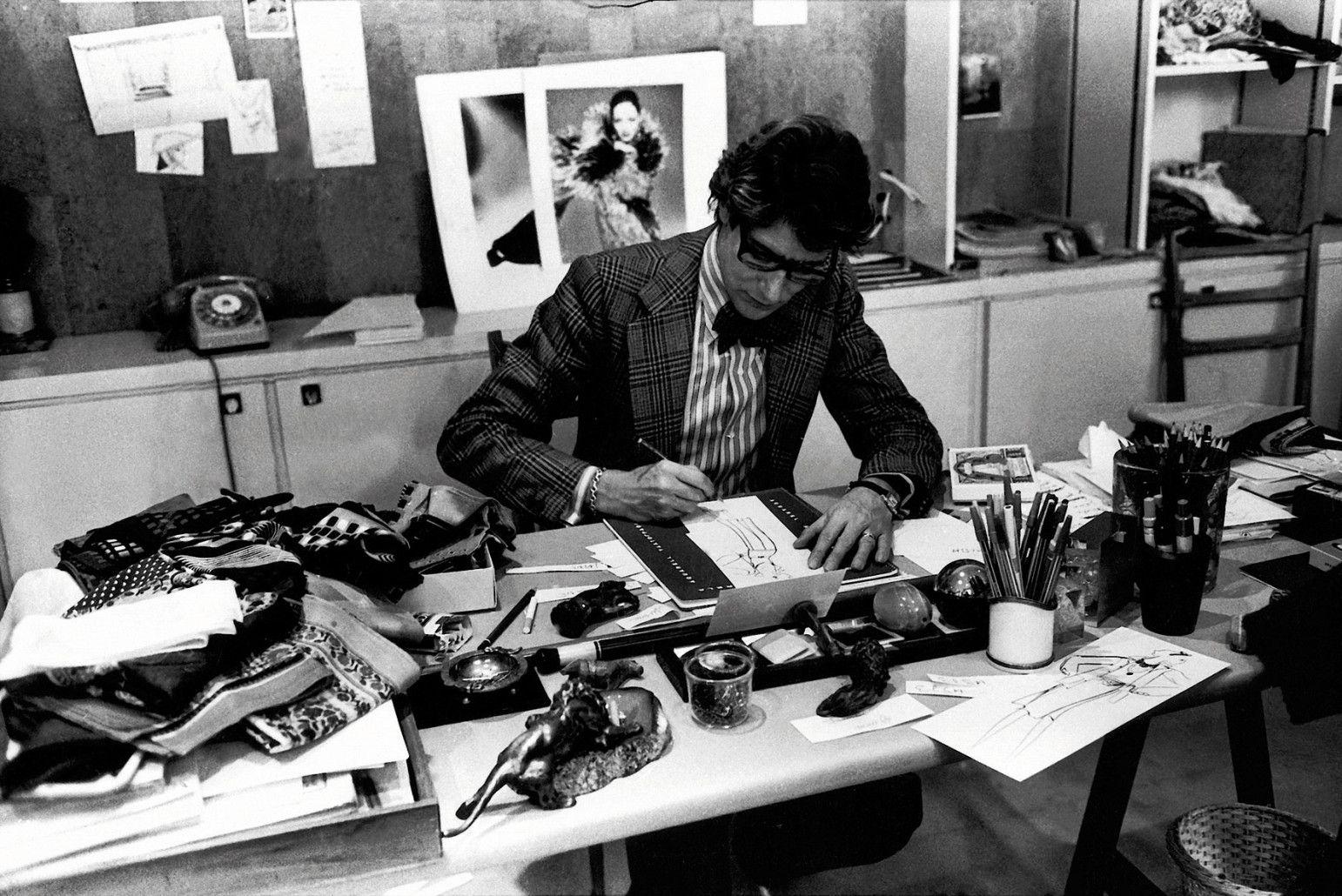 Inside Yves Saint Laurent's Studio | Yves saint laurent, Saint laurent,  Pierre berge