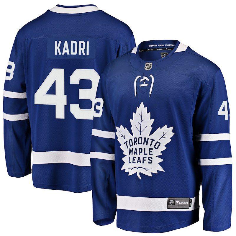 cfdd30e9f Nazem Kadri Toronto Maple Leafs Fanatics Branded Youth Breakaway Player  Jersey – Blue