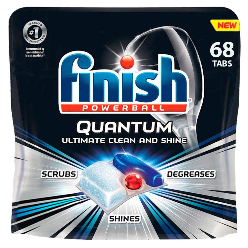 Finish Quantum Ultimate Clean Shine Dishwasher Detergent
