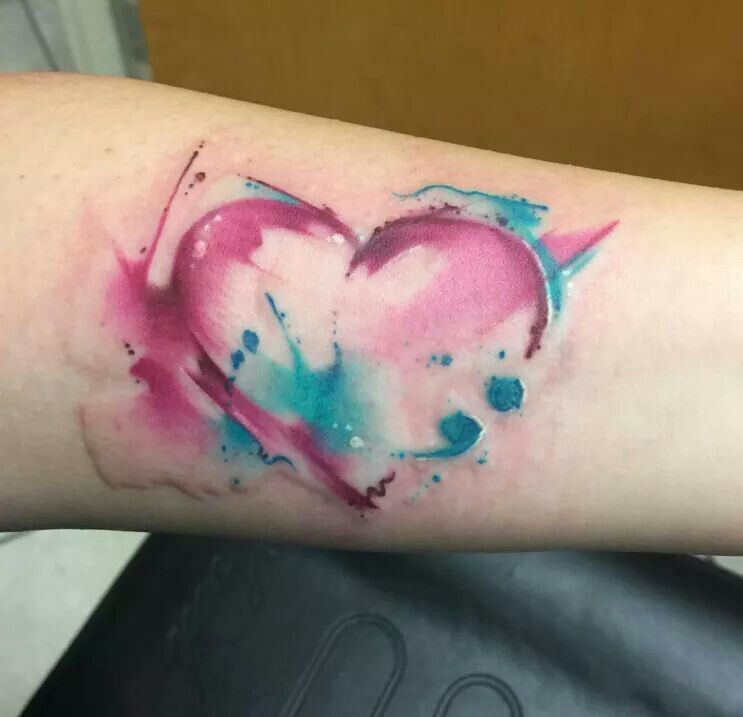Water Color Heart Watercolor Heart Tattoos Tattoos Tattoos For