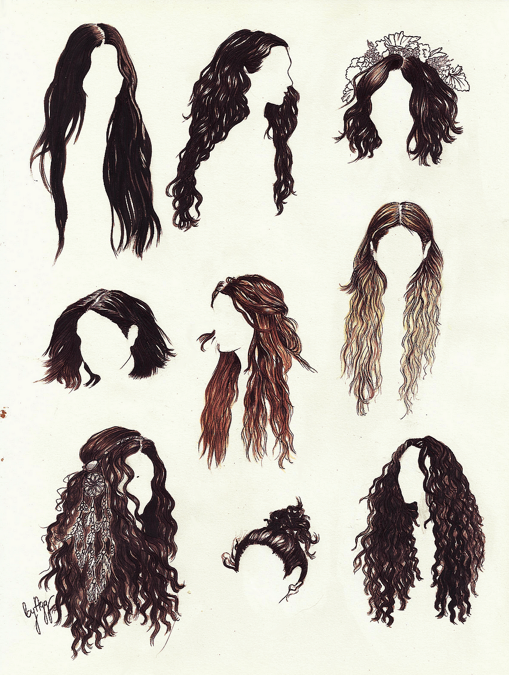 aggsart - Vanessa Hudgens' hair history (well a pa