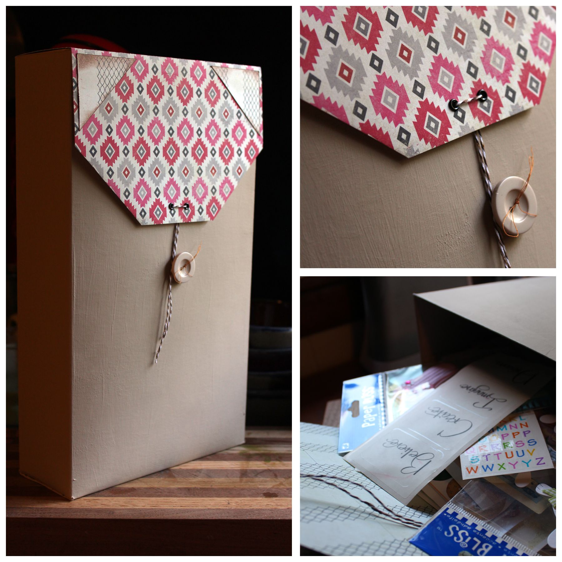 Decorative Shoe Boxes Storage Diy Cute Storage Box From Cereal Box  Diy  Pinterest  Storage