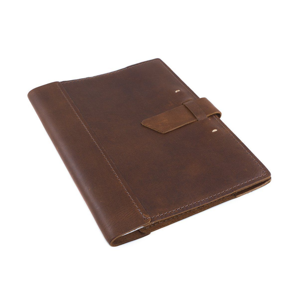 Large Leather Composition Notebook With Buckle