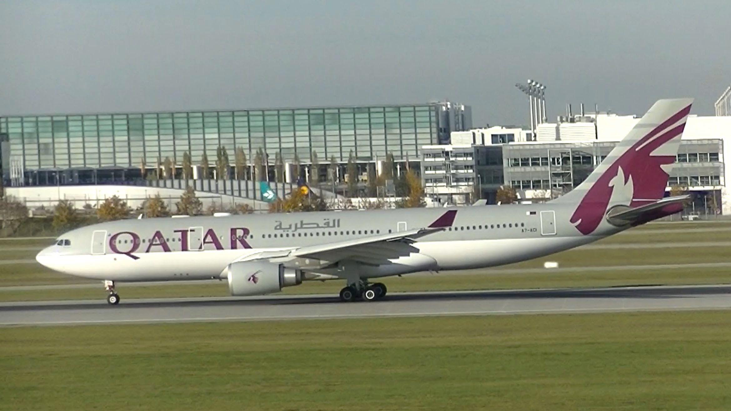 Qatar Airways Airbus A330 202 Flight Qr058 Munich To Doha A7 Aci Qatar Airways Airbus Munich