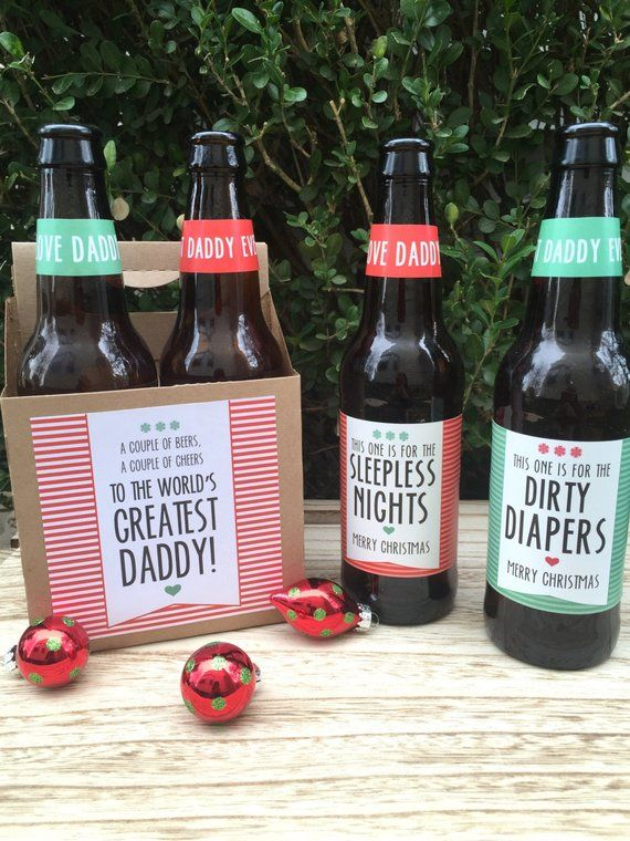 Christmas Beer Labels Christmas Gift from Baby Daddy to Be New Daddy Gift for Husband First Time Dad & Christmas Beer Labels Christmas Gift from Baby Daddy to Be New Daddy ...