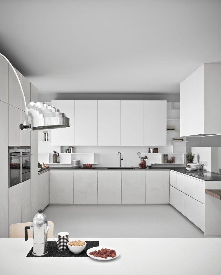 Line k urban look con la resina di cemento il programma for Cucine bellissime moderne