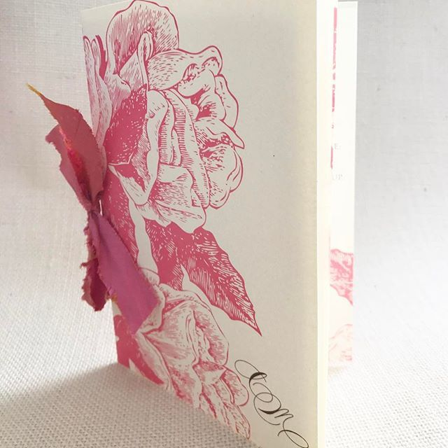 Booklet Style Program With Chalky Pink Floral And Dupioni